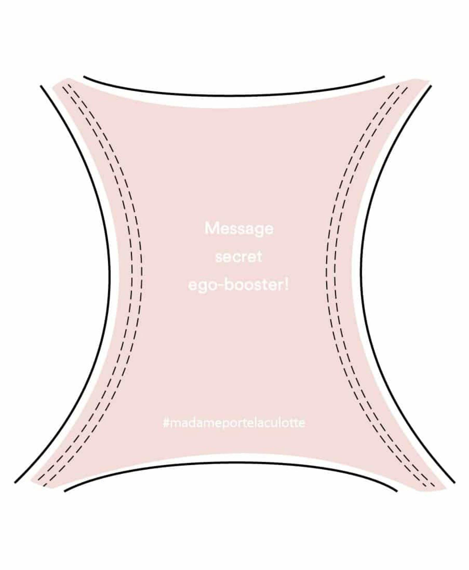 Message ego-booster culotte rose perlé