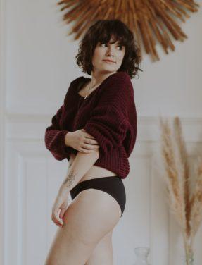 Culotte noire coton bio