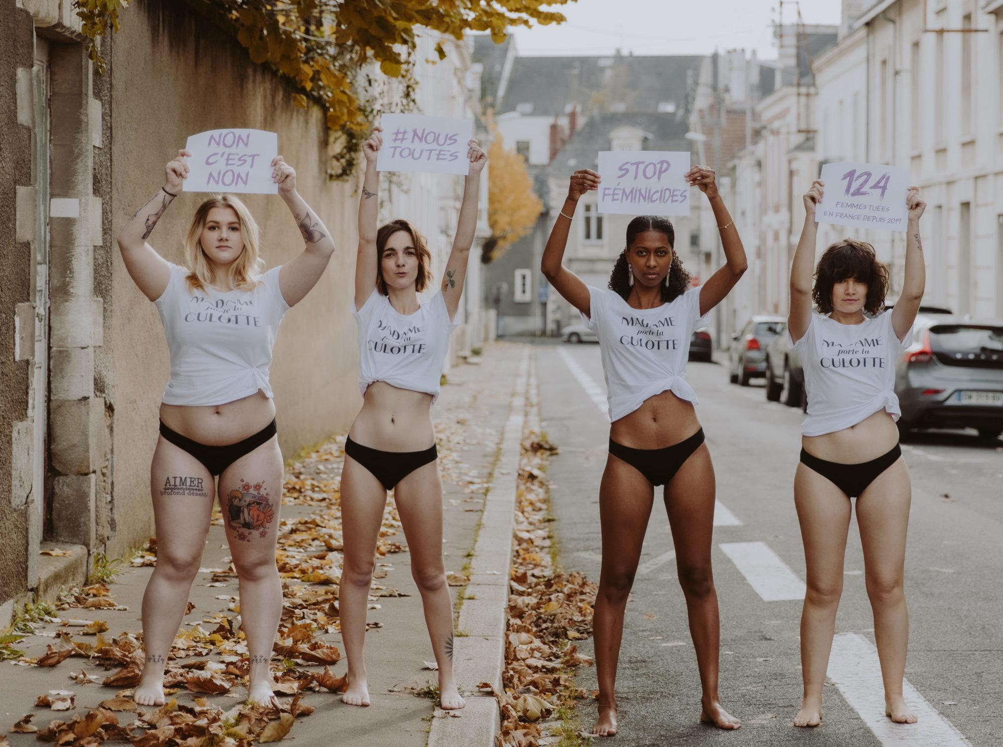 Découvrez notre culotte noire contre les violences faites aux femmes