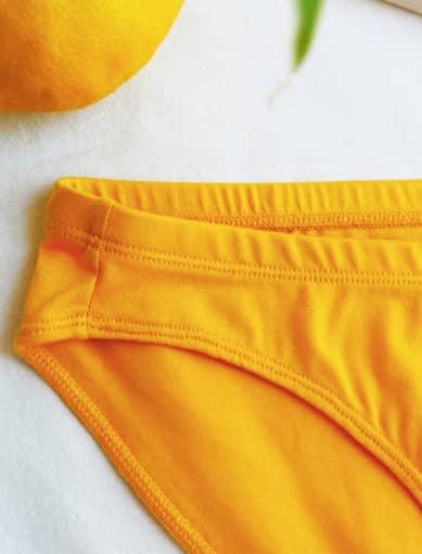 Culotte jaune safran en coton bio