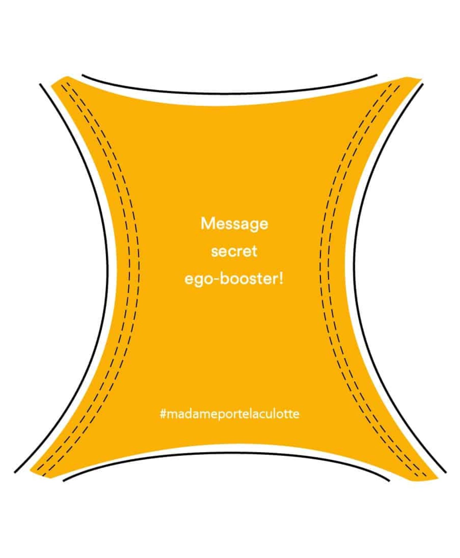Message ego-booster culotte jaune safran