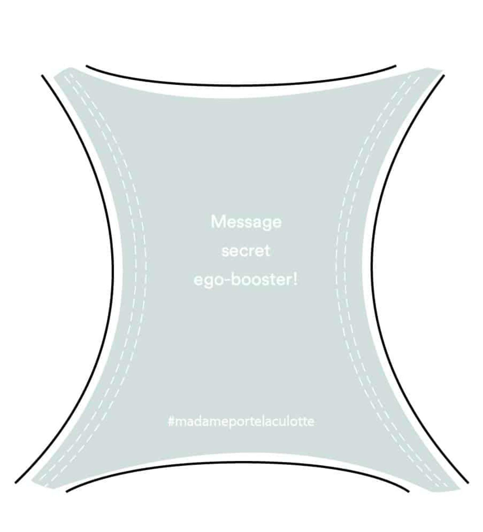 Message ego-booster culotte bleu glacier